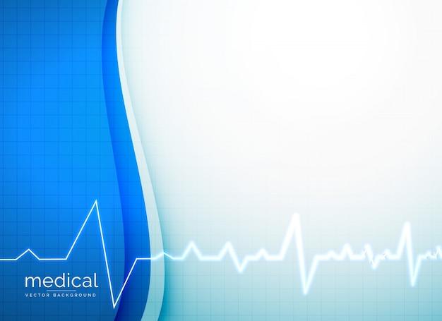 Sfondo vettoriale medico con battito cardiaco