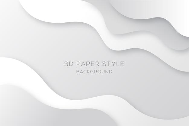 Sfondo bianco e grigio ondulato in stile carta