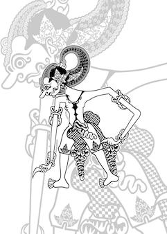 Wayang bima o werkudara è uno dei personaggi fantoccio in giava e in india