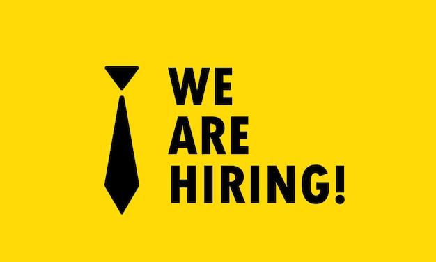 Stiamo assumendo pubblicità. posto vacante di reclutamento aperto. concetto di affari. vettore su sfondo isolato. env 10.