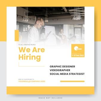 Stiamo assumendo un modello di post sui social media per posizioni lavorative
