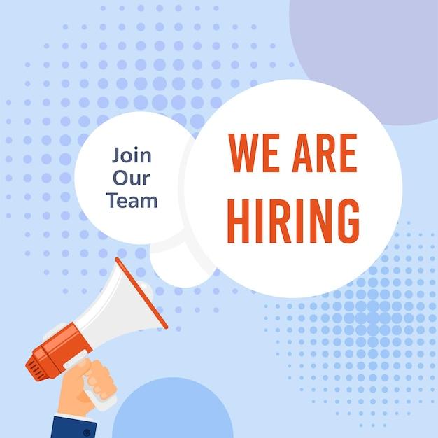 Stiamo assumendo. ricerca di lavoro, reclutamento, concetto di risorse umane.