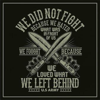 Non abbiamo combattuto perché hanno odiato