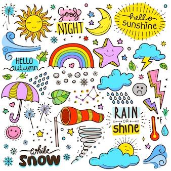 Illustrazione di elementi meteorologici