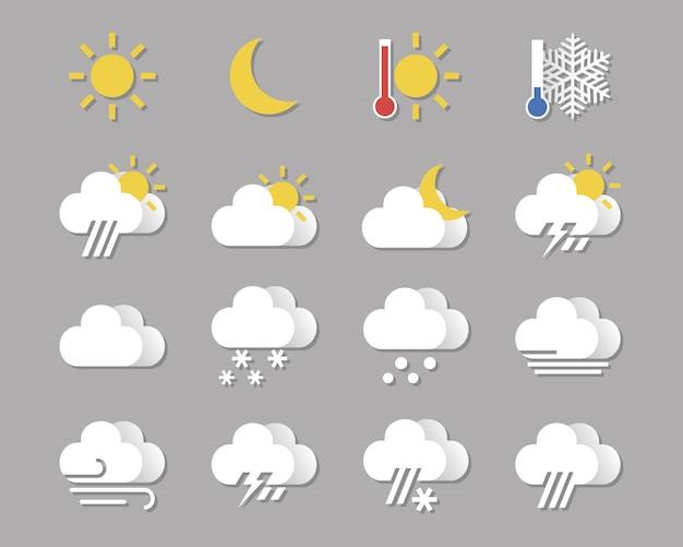 Set di icone del tempo