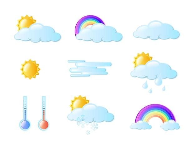 Set di icone meteo