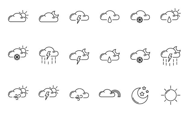 Icone di contorno del tempo