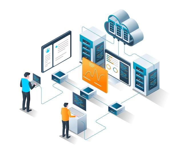Sistema di programmazione per analisi web con server cloud