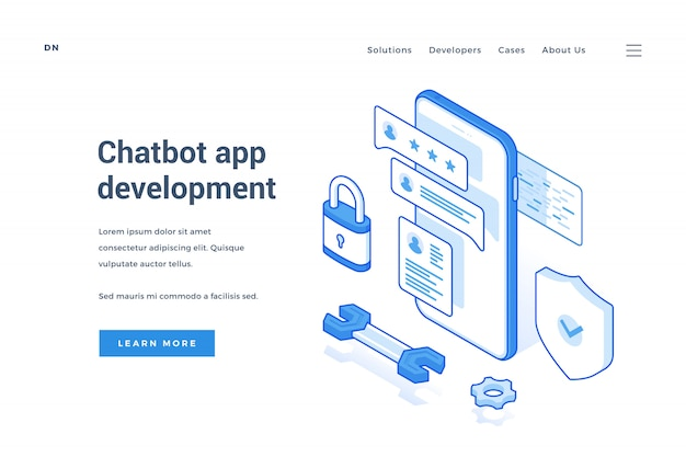 Servizio di sviluppo di app per chatbot con banner web