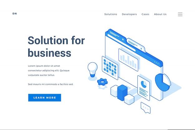 Banner web che pubblicizza soluzioni creative per il business