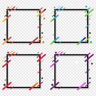Banner web grande set isolato sfondo trasparente,