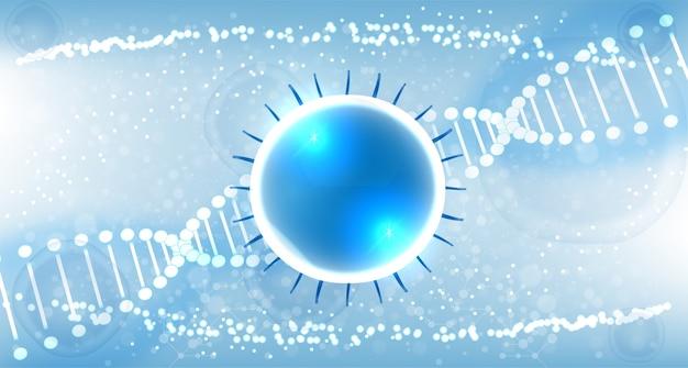 Banner web. cruscotto di cornici futuristiche. batteri, virus, microbi.