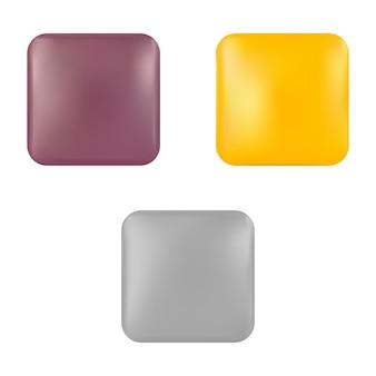 Set vuoto icona pulsante web design vettoriale distintivo lucido elemento tag rettangolo moderno
