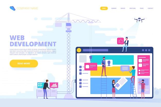 Web design e concetto di sviluppo di app