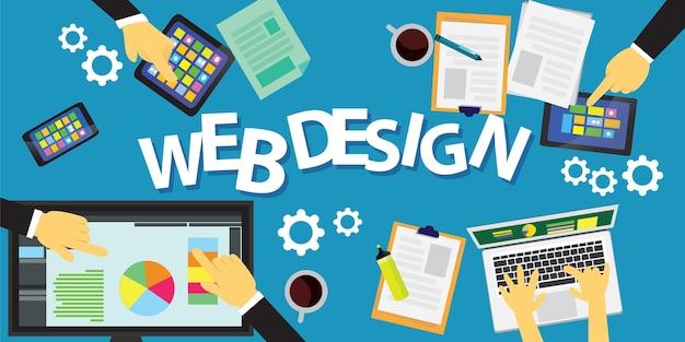 Concetto di design web