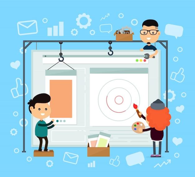 Web design e sviluppo. costruzione del sito web.