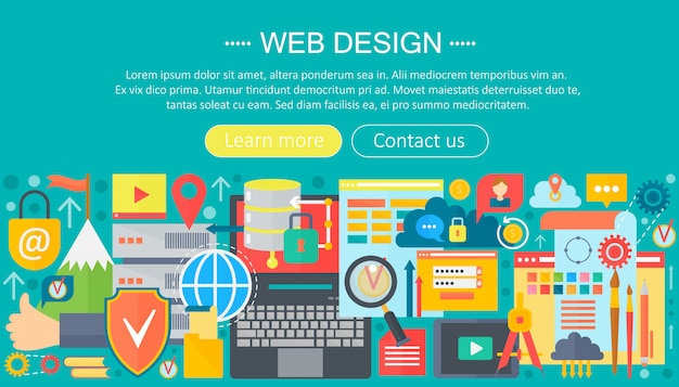 Design dell'intestazione del web design