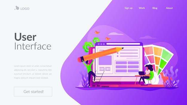 Modello di pagina di destinazione di web design