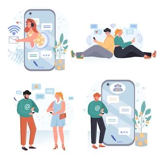 Set di illustrazioni di design piatto di sviluppo web