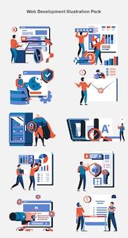 Pacchetto di illustrazioni per lo sviluppo web