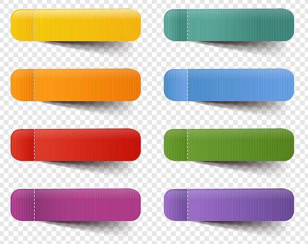 Web etichette grande insieme isolato sfondo trasparente con maglia di gradiente,