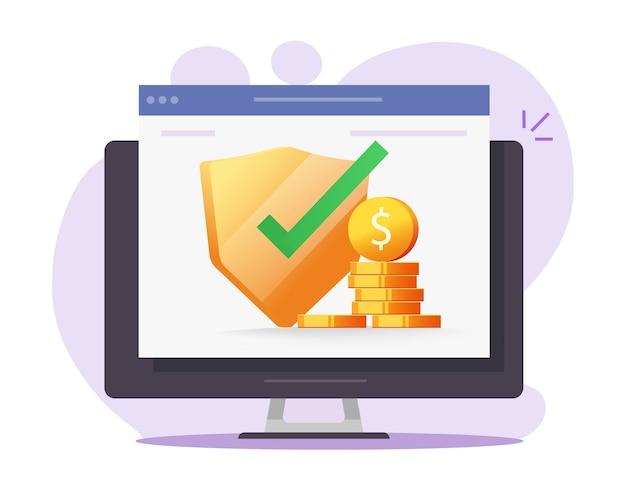 Garanzie di web money insurance digital financial web protection online