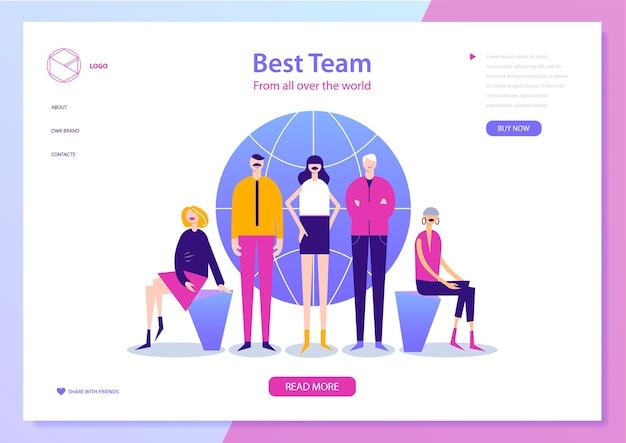 Modello di pagina web per la gestione del progetto, la comunicazione aziendale, il flusso di lavoro e la consulenza.