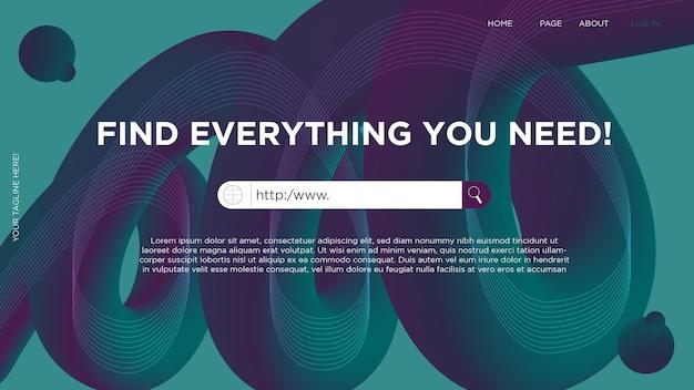 Modello di barra di ricerca sul web