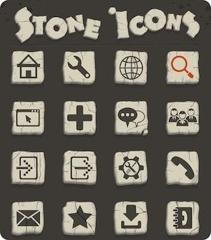 Icone web degli strumenti web per la progettazione dell'interfaccia utente