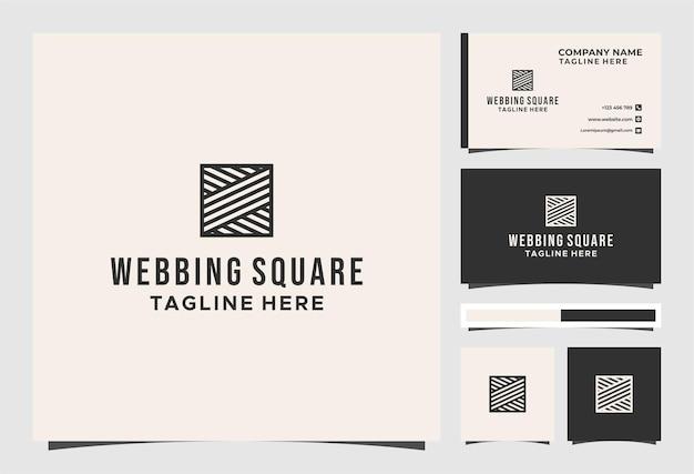 Logo e biglietto da visita quadrati della tessitura