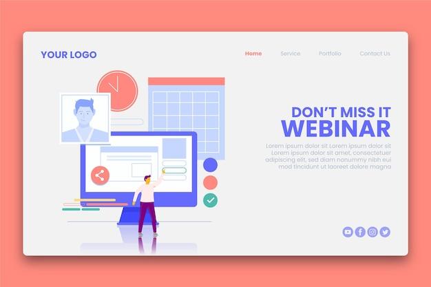Banner webinar con illustrazioni