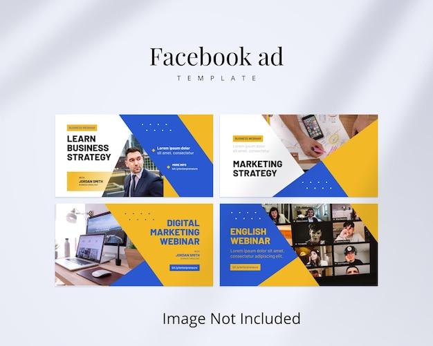 Modello di annuncio facebook aziendale per webinar