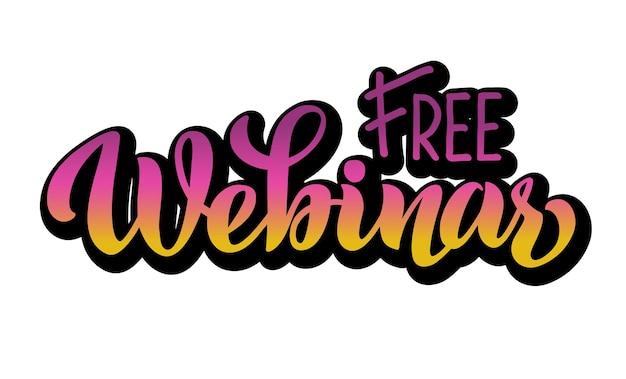 Webinar lettere vettoriali gratis disegnate a mano per il sito web di progetti che trasmettono in diretta streaming
