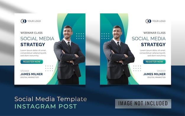 Modello di post instagram di strategia di social media webinar