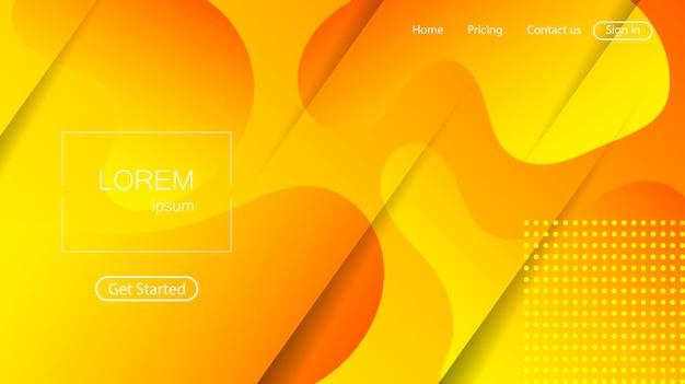 Sfondo astratto sito web. pagina di destinazione di forme dinamiche colorate luminose
