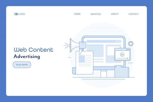 Pubblicità sul sito web e banner di contenuto
