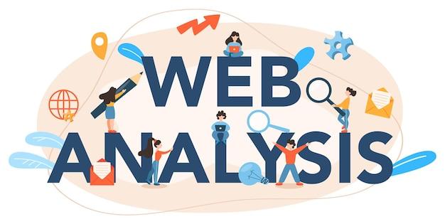 Intestazione tipografica di analisi del sito web