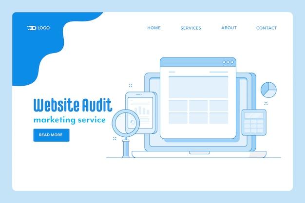Pagina di destinazione dell'audit del sito web
