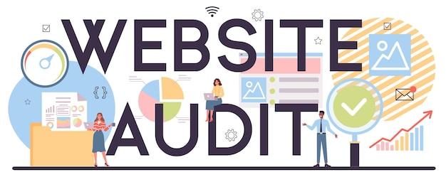 Intestazione tipografica di audit del sito web