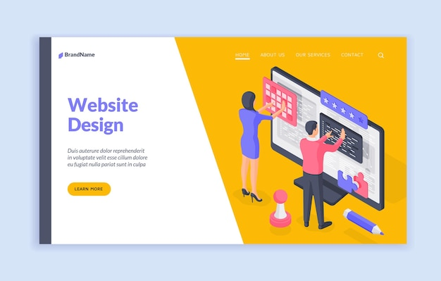 Modello di banner della pagina di destinazione del design del sito web