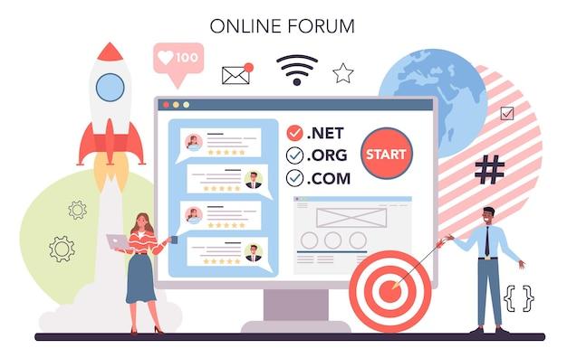 Piattaforma o servizio online di sviluppo di siti web