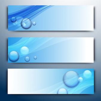 Intestazioni di sito o banner con onde.