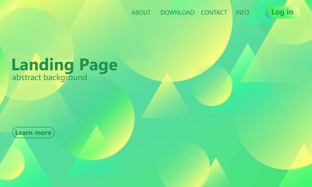 Pagina di destinazione del sito web. sfondo geometrico. design minimale astratto della copertina. carta da parati colorata creativa. poster sfumato alla moda. illustrazione vettoriale.