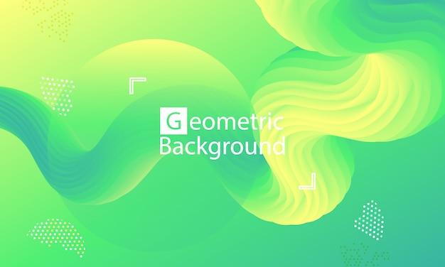 Pagina di destinazione del sito web. sfondo astratto verde. Vettore Premium