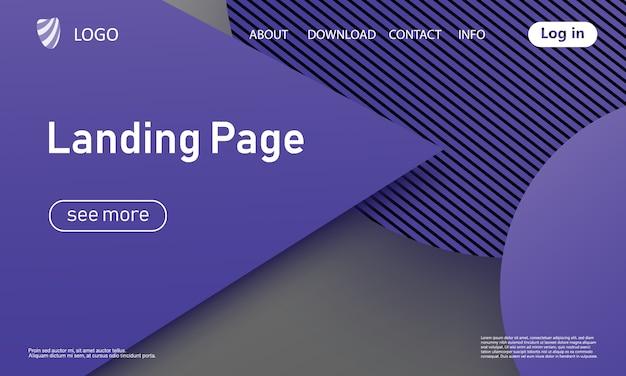 Pagina di destinazione del sito web. progettazione materiale.