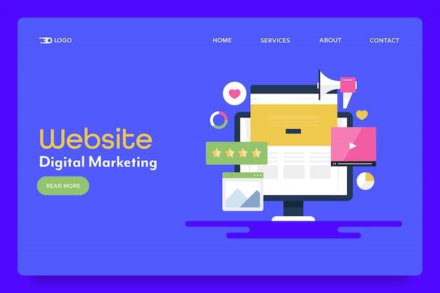 Banner concettuale di marketing del sito web