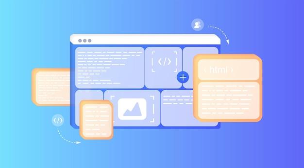 Sviluppo della pagina del sito web seo ottimizzazione dei motori di ricerca pagina di destinazione pagina di destinazione del modello
