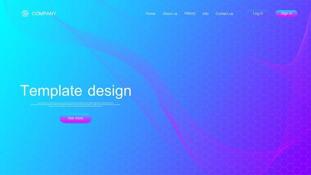 Illustrazione di progettazione del modello di sito web per la pagina di destinazione