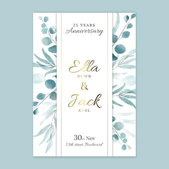 Modello di biglietto per l'anniversario di matrimonio