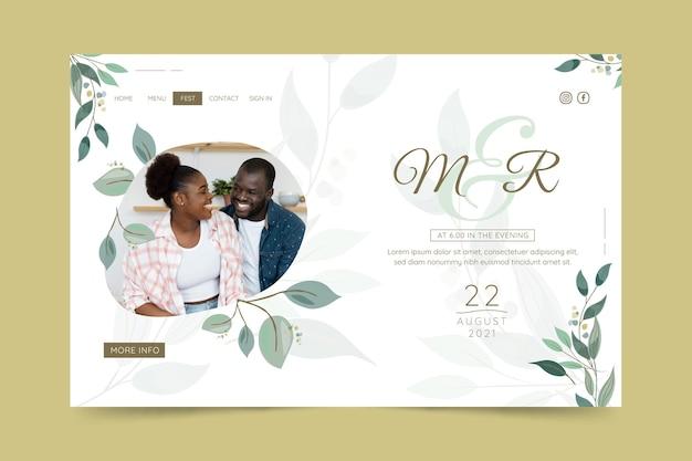Modello di pagina di destinazione per anniversario di matrimonio